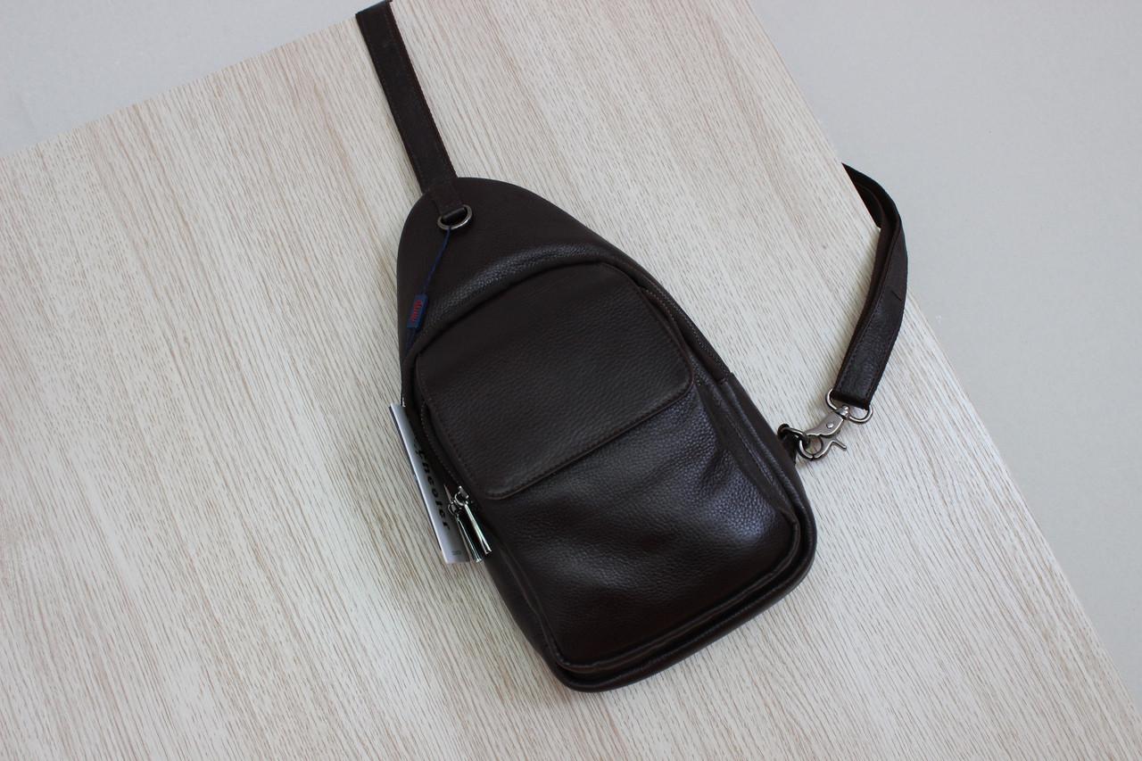 Мужская борсетка,сумка слинг, кобура из натуральной кожи