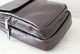 Мужская борсетка,сумка слинг, кобура из натуральной кожи, фото 3