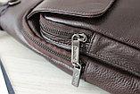 Мужская борсетка,сумка слинг, кобура из натуральной кожи, фото 4