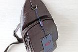 Мужская борсетка,сумка слинг, кобура из натуральной кожи, фото 9