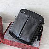 Мужская барсетка сумка через плечо из натуральной кожи, фото 3