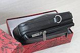 Мужская барсетка сумка через плечо из натуральной кожи, фото 4