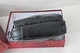 Мужская барсетка сумка через плечо из натуральной кожи, фото 5