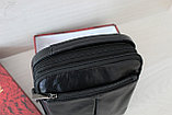 Мужская барсетка сумка через плечо из натуральной кожи, фото 8