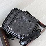 Мужская барсетка сумка через плечо из натуральной кожи, фото 7