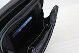 Мужская барсетка сумка через плечо из натуральной кожи, фото 9