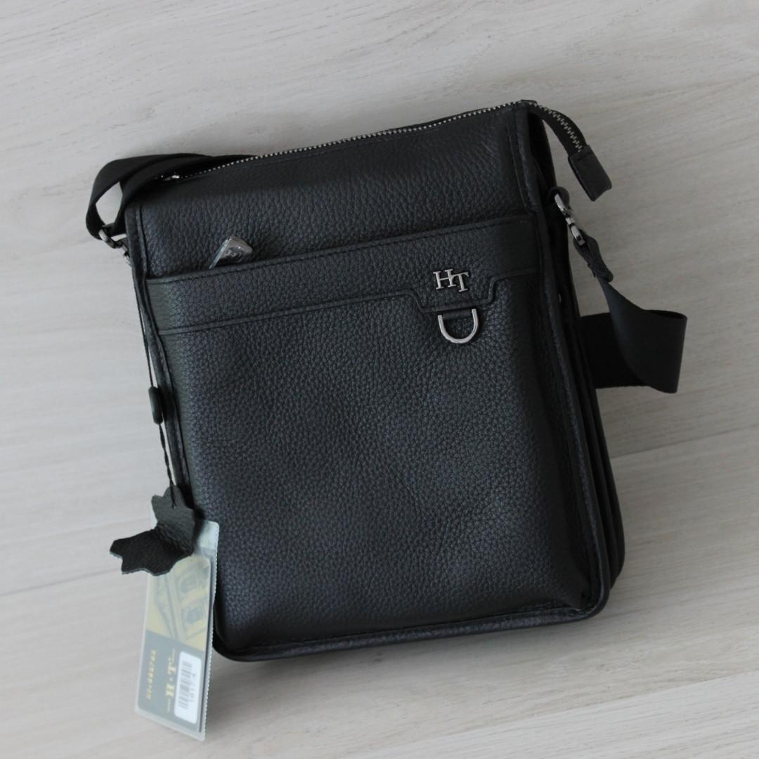 Мужская сумка через плечо НТ натуральная кожа