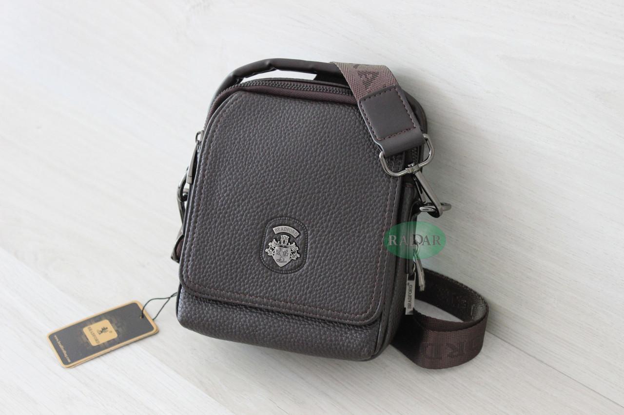 Мужская кожаная сумка барсетка BRADFORD, коричневый