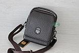 Мужская кожаная сумка барсетка BRADFORD, коричневый, фото 2