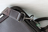 Мужская кожаная сумка барсетка BRADFORD, коричневый, фото 8