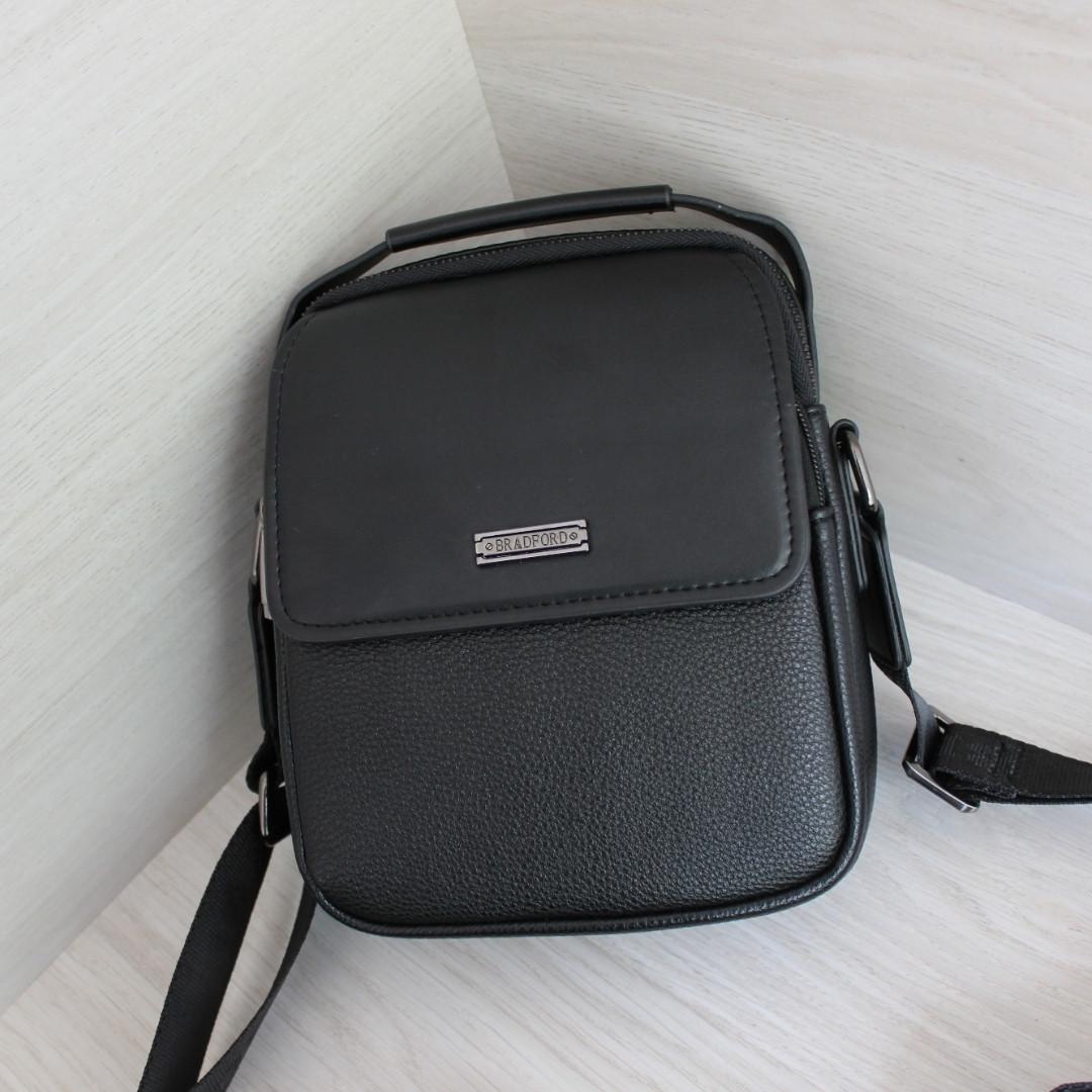 Мужская сумка барсетка со съёмным плечевым ремнем и ручкой