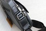 Мужская сумка барсетка со съёмным плечевым ремнем и ручкой, фото 3