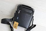 Мужская сумка барсетка со съёмным плечевым ремнем и ручкой, фото 4