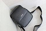 Мужская сумка барсетка со съёмным плечевым ремнем и ручкой, фото 5