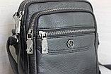 Мужская барсетка сумка через плечо из натуральной кожи НТ, фото 3