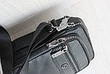 Мужская барсетка сумка через плечо из натуральной кожи НТ, фото 4