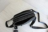 Мужская барсетка сумка через плечо из натуральной кожи НТ, фото 6