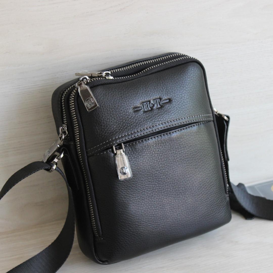 Мужская сумка через плечо из натуральной кожи НТ