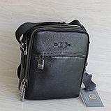 Мужская сумка через плечо из натуральной кожи НТ, фото 3