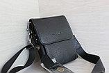 Мужская барсетка из натуральной кожи, сумка со съёмным плечевым ремнем НТ, фото 3