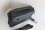 Мужская барсетка сумка через плечо из натуральной кожи НТ, фото 2