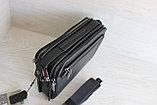 Мужская барсетка сумка через плечо из натуральной кожи НТ, фото 5