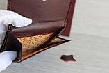 Женское Портмоне Петек из натуральной кожи вишня, фото 3