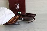 Женское Портмоне Петек из натуральной кожи вишня, фото 5
