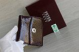 Женское Портмоне Петек из натуральной кожи вишня, фото 8