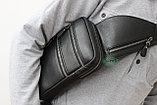 Мужская барсетка кобура из натуральной кожи Н.Т. leather, фото 5