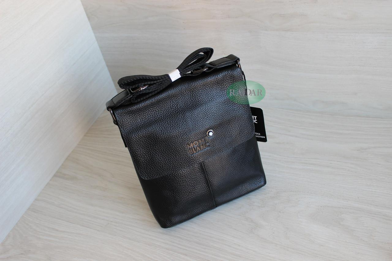 Мужская сумка планшет через плечо из натуральной кожи