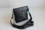 Мужская сумка планшет через плечо из натуральной кожи, фото 2