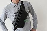 Мужская бананка, кобура, сумка на пояс из натуральной кожи, фото 10