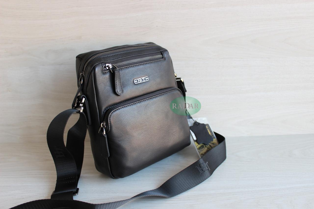 Мужская барсетка сумка через плечо из натуральной кожи HT