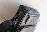 Мужская барсетка сумка через плечо из натуральной кожи HT, фото 2