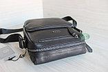 Мужская барсетка сумка через плечо из натуральной кожи HT, фото 3
