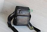 Мужская барсетка сумка через плечо из натуральной кожи HT, фото 4