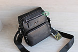 Мужская барсетка сумка через плечо из натуральной кожи HT, фото 7