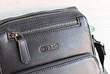 Мужская барсетка сумка через плечо из натуральной кожи HT, фото 9