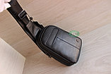 Мужская барсетка, кобура, сумка слинг из натуральной кожи НТ, фото 2