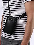 Мужская компактная барсетка HT со съёмным плечевым ремнем и ручкой., фото 3