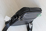 Мужская барсетка через плечо, мужская сумка из кожи S.F., фото 4