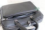 Мужская бизнес сумка, деловой портфель НТ из натуральной кожи, фото 4