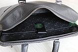 Мужская бизнес сумка, деловой портфель НТ из натуральной кожи, фото 10