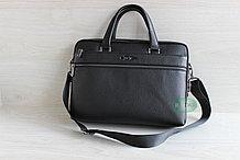 Мужская бизнес сумка, деловой портфель НТ из натуральной кожи