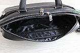 Мужская бизнес сумка, деловой портфель НТ из натуральной кожи, фото 5