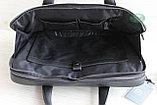 Мужская бизнес сумка, деловой портфель НТ из натуральной кожи, фото 6