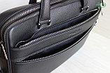 Мужская бизнес сумка, деловой портфель НТ из натуральной кожи, фото 9