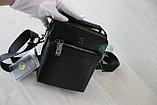 Мужская кожаная сумка барсетка через плечо HT, фото 5