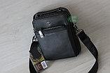 Мужская кожаная сумка барсетка через плечо HT, фото 7